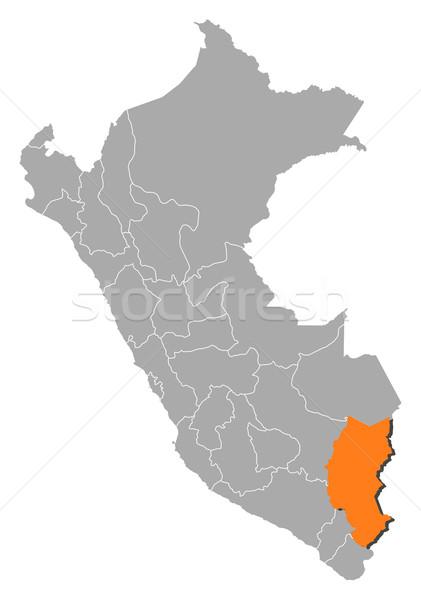 Mapa Perú político regiones resumen Foto stock © Schwabenblitz