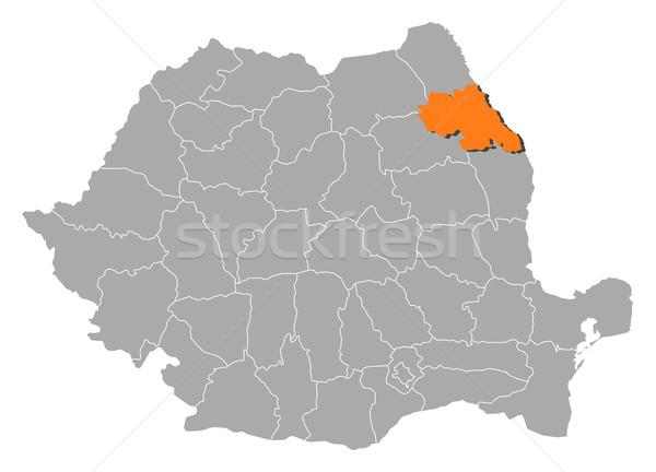 Kaart Roemenië politiek verscheidene abstract achtergrond Stockfoto © Schwabenblitz