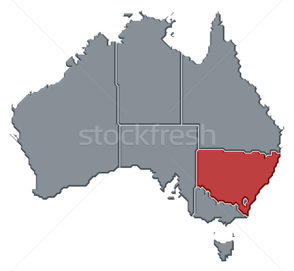 Kaart Australië new south wales politiek verscheidene abstract Stockfoto © Schwabenblitz