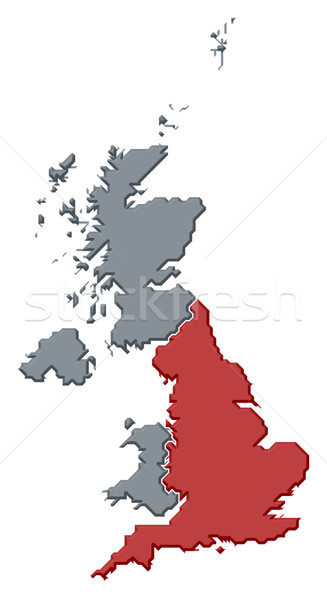Map of United Kingdom, England highlighted Stock photo © Schwabenblitz