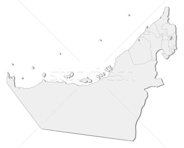 Harita Birleşik Arap Emirlikleri siyasi birkaç soyut toprak Stok fotoğraf © Schwabenblitz