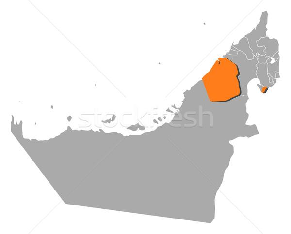 Harita Birleşik Arap Emirlikleri Dubai siyasi birkaç soyut Stok fotoğraf © Schwabenblitz