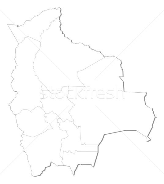 Térkép Bolívia politikai néhány absztrakt művészet Stock fotó © Schwabenblitz