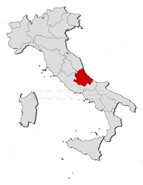 Map of Italy, Abruzzo highlighted Stock photo © Schwabenblitz
