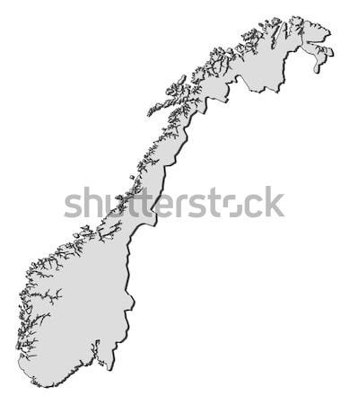 Mapa Noruega político vários globo abstrato Foto stock © Schwabenblitz