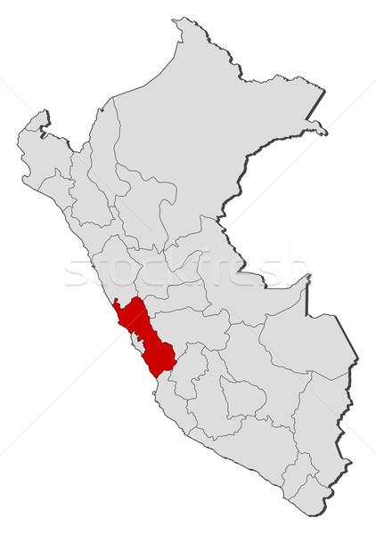 Map of Peru, Lima highlighted Stock photo © Schwabenblitz