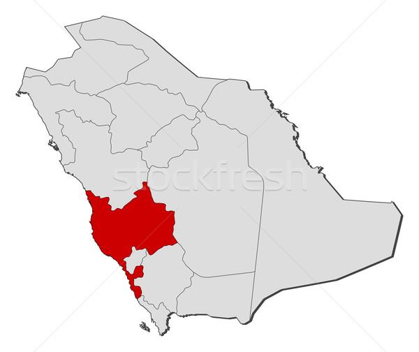 Mapa Arábia Saudita político vários abstrato terra Foto stock © Schwabenblitz