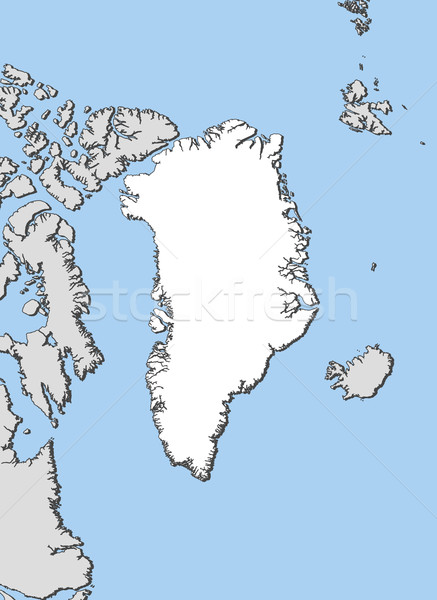 Map of Greenland Stock photo © Schwabenblitz