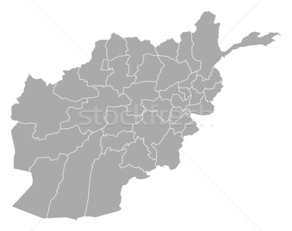 Karte Afghanistan politischen mehrere abstrakten Hintergrund Stock foto © Schwabenblitz