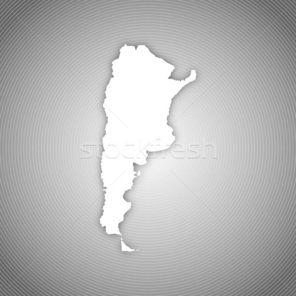 Harita Arjantin siyasi birkaç soyut dünya Stok fotoğraf © Schwabenblitz