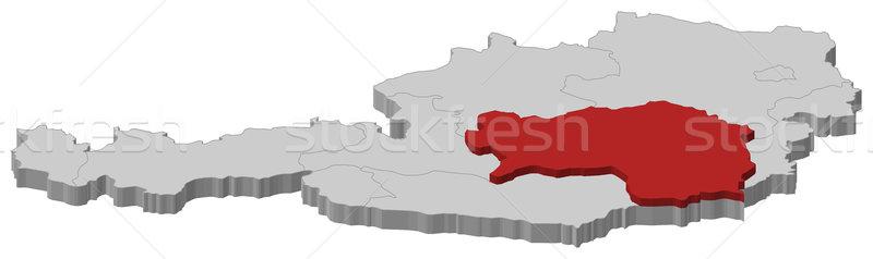 Map of Austria, Styria highlighted Stock photo © Schwabenblitz