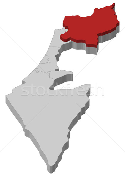 Map of Israel, Northern District highlighted Stock photo © Schwabenblitz