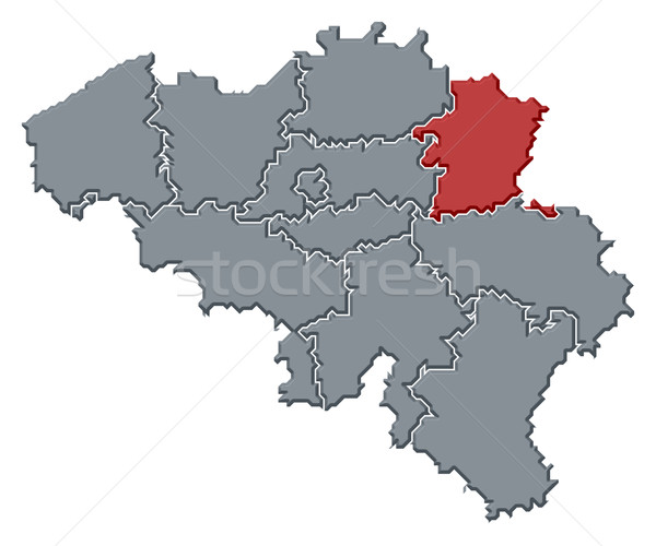 Map of Belgium, Limburg highlighted Stock photo © Schwabenblitz