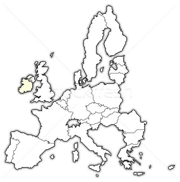 Kaart europese unie Ierland politiek verscheidene Stockfoto © Schwabenblitz