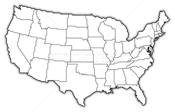 Сток-фото: карта · Соединенные · Штаты · Род-Айленд · политический · несколько · аннотация