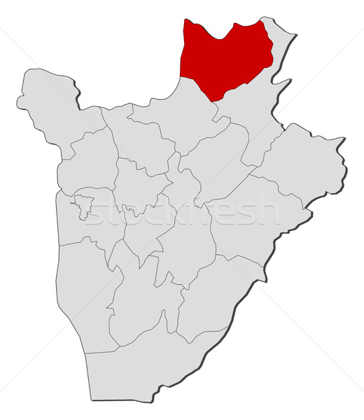 Map - Burundi, Kirundo Stock photo © Schwabenblitz