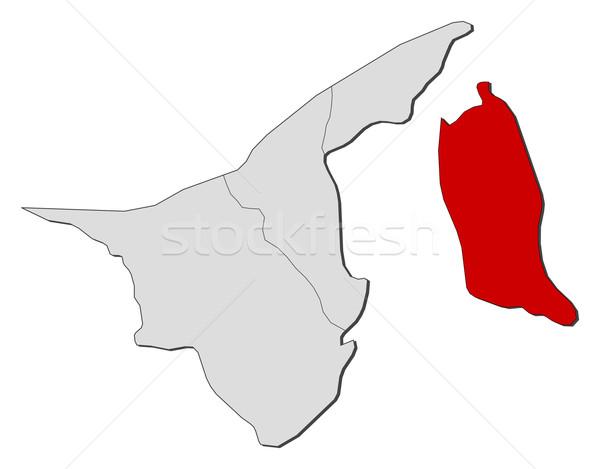 Kaart Brunei politiek verscheidene wereldbol abstract Stockfoto © Schwabenblitz