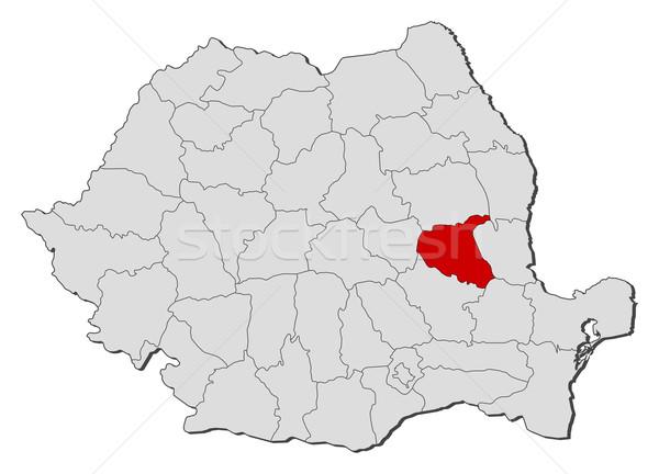 ストックフォト: 地図 · ルーマニア · 政治的 · いくつかの · 世界中 · 抽象的な