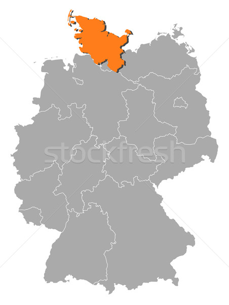 Map of Germany, Schleswig-Holstein highlighted Stock photo © Schwabenblitz