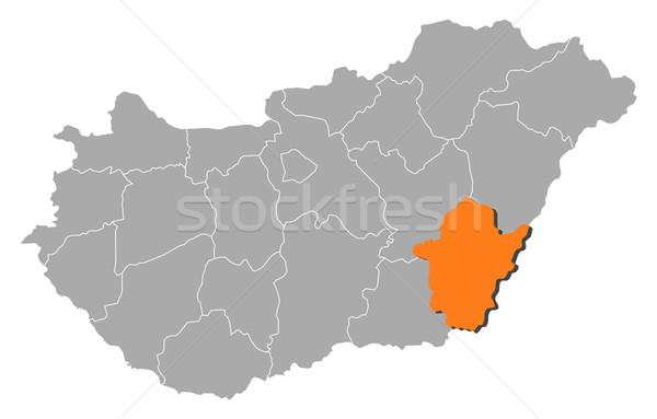 Map of Hungary, B Stock photo © Schwabenblitz