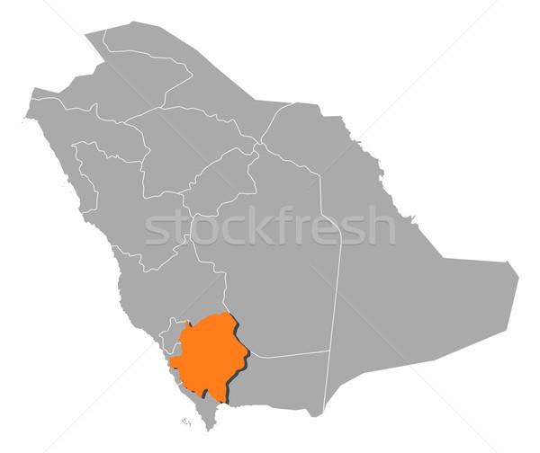 ストックフォト: 地図 · サウジアラビア · 政治的 · いくつかの · 抽象的な · 背景