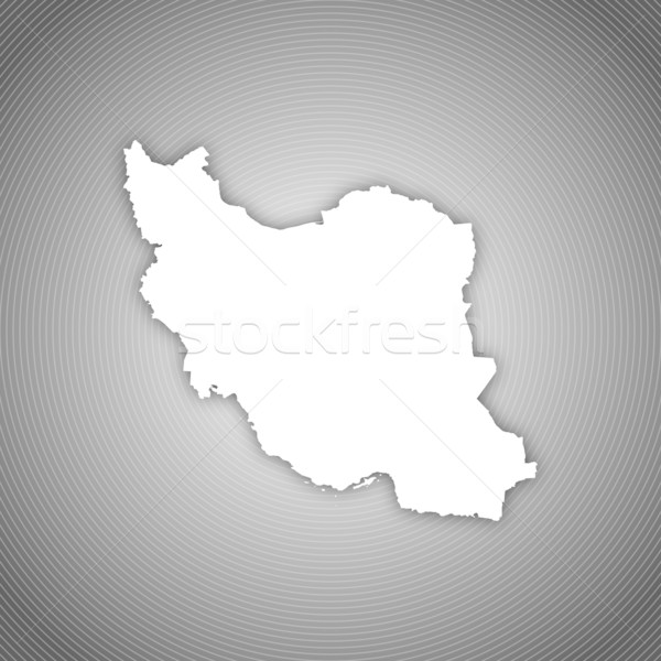 Térkép Irán politikai néhány absztrakt világ Stock fotó © Schwabenblitz