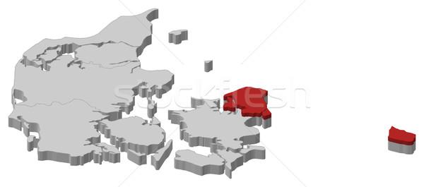 Mapa região político vários regiões abstrato Foto stock © Schwabenblitz
