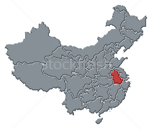 Map of China, Anhui highlighted Stock photo © Schwabenblitz