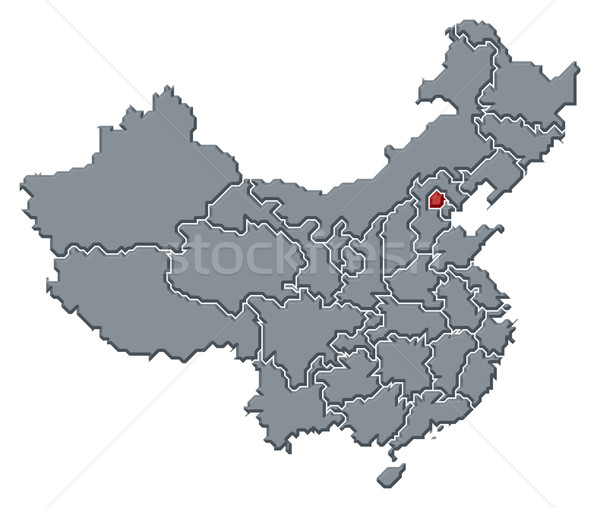 Map of China, Beijing highlighted Stock photo © Schwabenblitz