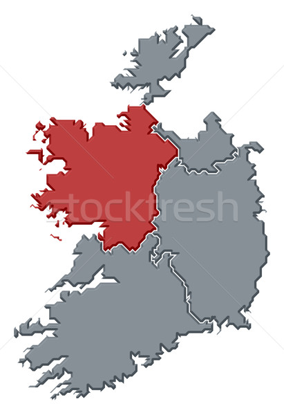 Map of Ireland, Connacht highlighted Stock photo © Schwabenblitz