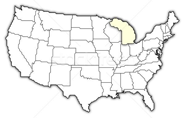 Mappa Stati Uniti Michigan politico parecchi abstract Foto d'archivio © Schwabenblitz