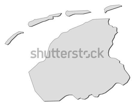 Сток-фото: карта · Нидерланды · аннотация · фон · связи · черный