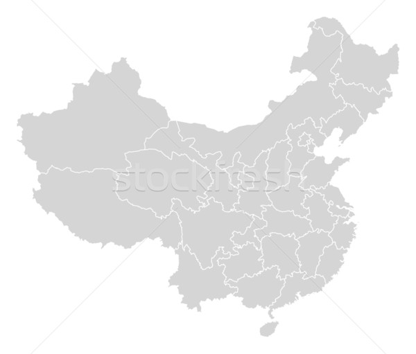 Map of China Stock photo © Schwabenblitz