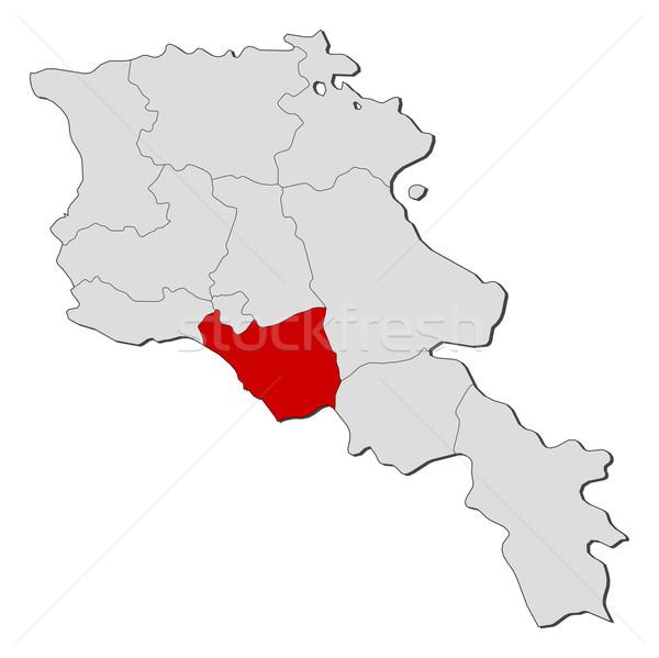 Mapa Armênia político vários abstrato terra Foto stock © Schwabenblitz