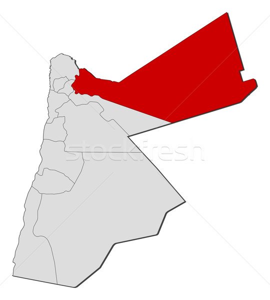 Kaart Jordanië politiek verscheidene abstract aarde Stockfoto © Schwabenblitz