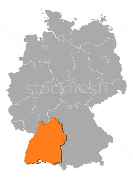 Kaart Duitsland politiek verscheidene abstract achtergrond Stockfoto © Schwabenblitz
