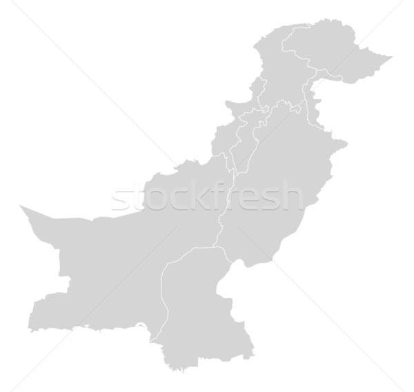 Harita Pakistan siyasi birkaç soyut dünya Stok fotoğraf © Schwabenblitz