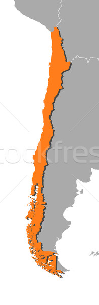 Stock photo: Map of Chile