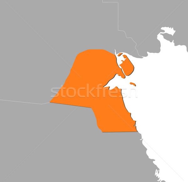 Mapa Kuweit político vários abstrato mundo Foto stock © Schwabenblitz