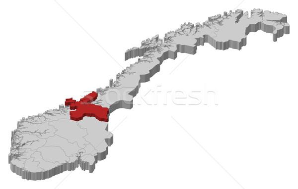 Map of Norway, S Stock photo © Schwabenblitz