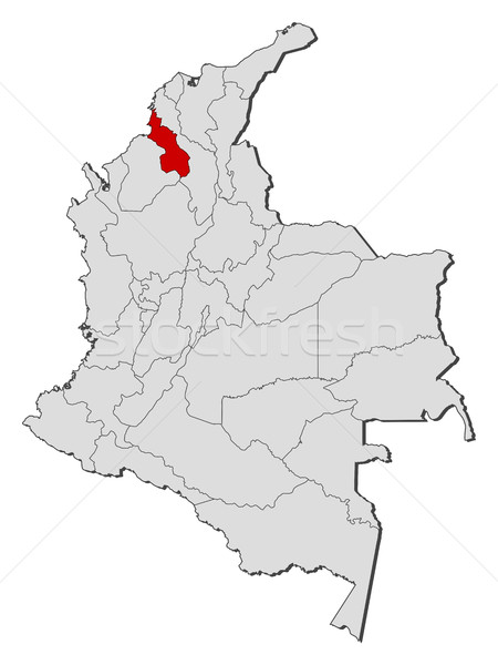 Map - Colombia, Sucre Stock photo © Schwabenblitz