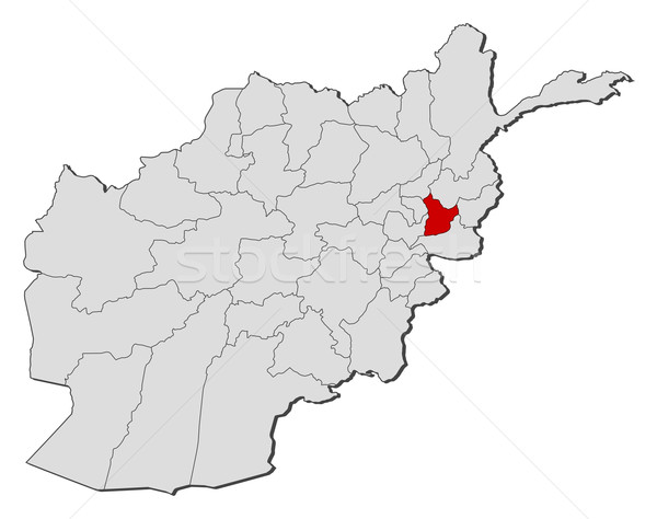 Map of Afghanistan, Laghman highlighted Stock photo © Schwabenblitz