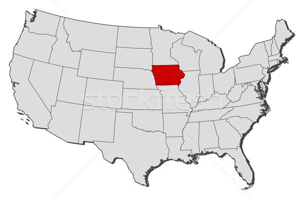 карта Соединенные Штаты Айова политический несколько аннотация Сток-фото © Schwabenblitz