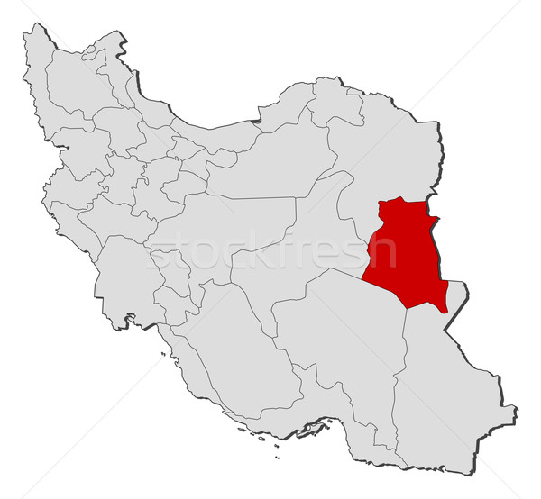 Map of Iran, South Khorasan highlighted Stock photo © Schwabenblitz