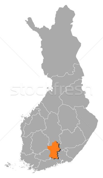 Pokaż Finlandia polityczny kilka regiony streszczenie Zdjęcia stock © Schwabenblitz