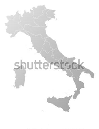 Kaart Italië politiek verscheidene regio abstract Stockfoto © Schwabenblitz