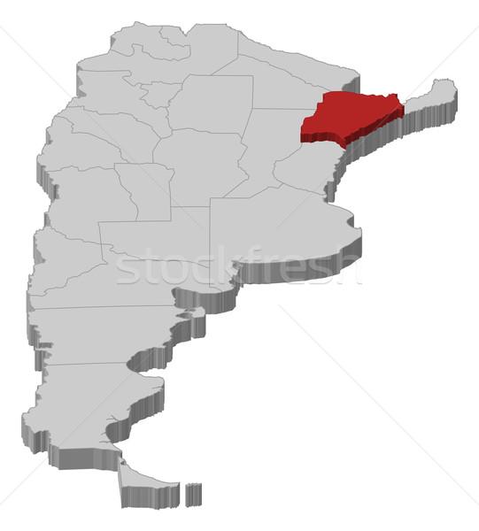 Foto stock: Mapa · Argentina · político · vários · abstrato · fundo