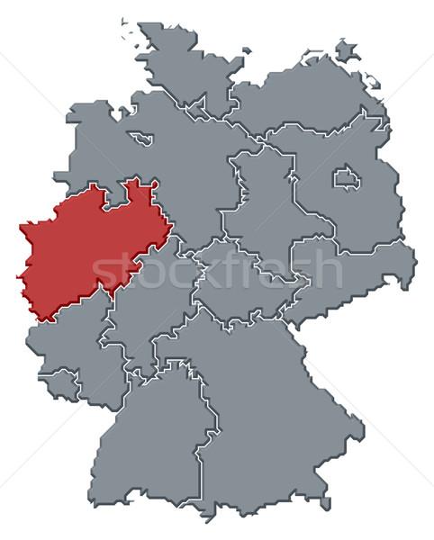 Foto stock: Mapa · Alemanha · norte · político · vários · abstrato