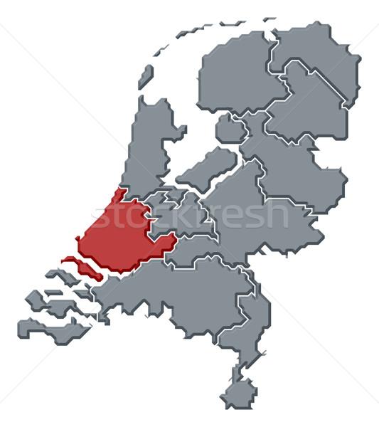 Mapa Países Bajos sur Holanda político Foto stock © Schwabenblitz