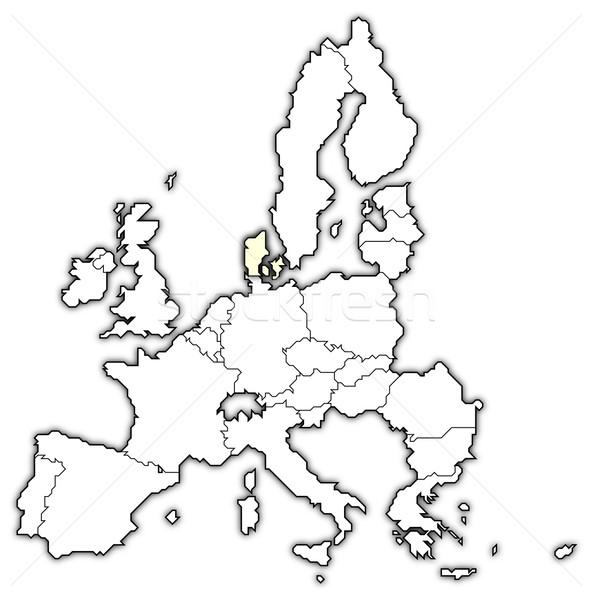 Carte européenne Union Danemark politique plusieurs Photo stock © Schwabenblitz
